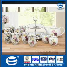 Partido decorativo / aniversário / casamento cardbard 2 camadas carrinho de exibição de bolo, fornecedor de decoração de bolo