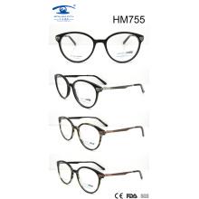 Nuevos vidrios ópticos del acetato de la venta del diseño nuevo (HM755)