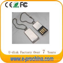 A venda quente personaliza a movimentação USB da pena do metal do logotipo para a promoção