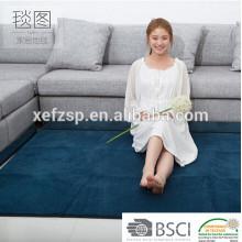 textile de maison 100% polyester microfibre tapis anti-fatigue longue pile 100% polyester machine lavable tapis d'entrée