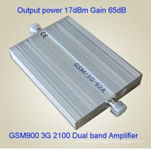 2g 3G 850 2100MHz de banda dual de señal móvil Booster