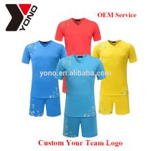 Personnalisé votre logo en gros de qualité supérieure football jersey blanc football uniforme kit