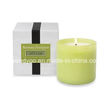 High-End Natural Scented Soy Party Candle em jarra de vidro