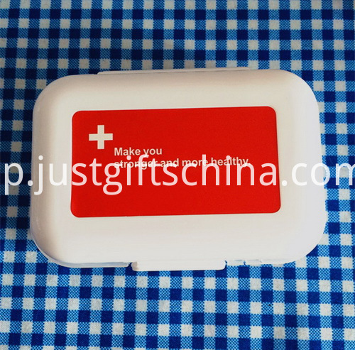 Promotional Mini Plastic Pillboxes W Compartments (2)