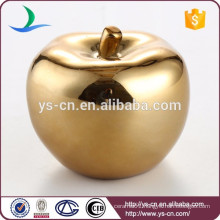 Wholesale ceramic Gold-plated apple luxury home decor