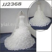 JJ2368 Elgant горячий продавать пышная юбка русалка свадебное платье
