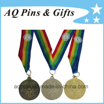 Médaille sportive en gros avec le ruban imprimé de 4 couleurs