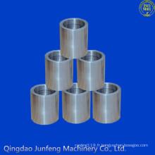 Manchon adapté aux besoins du client d'acier inoxydable de précision, douille filetée d'acier inoxydable