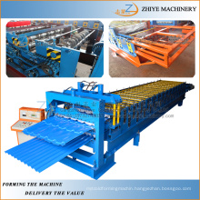 Galvanized Metal Roofing Panel Double Deck Roll Forming Line/Double Decker Making Equipments Process Line