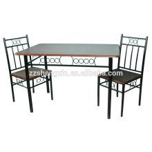 1 + 2 Glas Esstisch Set 2 Stühle