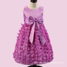 Flower Young Baby Girl Child Long Hand Made Clothing Party Dress