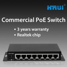 Commutateur POE de commutateur de POV de commutateur passif de 8 ports de port pour la caméra IP / AP sans fil