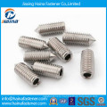 DIN914 stainless steel hexagon scoket set screw with cone point