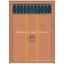 Janela de arte Janela dupla de segurança Porta metálica de cobre de aço (W-GB-13)