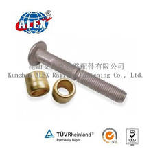 Carbon Steel Round Head Huck Bolt with Brass Ring Factory Grade 10.9