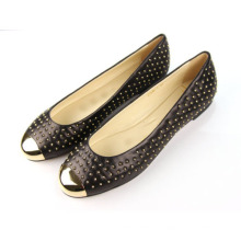 2016 New Collection Fashion Studded Flat Women Dress Shoes (Hcy02-070)
