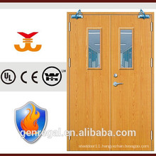 High Quality BS Steel frame wood fire rated door