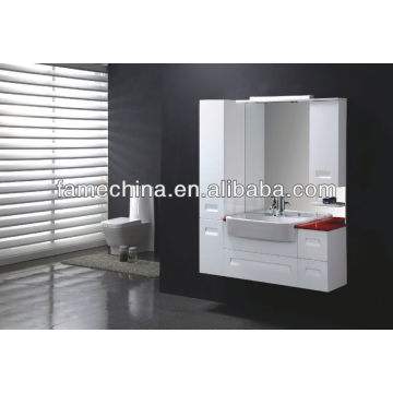 New MDF bathroom furniture Glass basin acrylic sheet