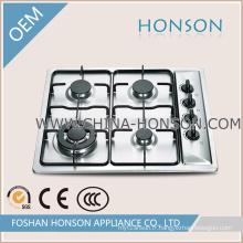 Table de cuisson à gaz encastrable avec 4 brûleurs