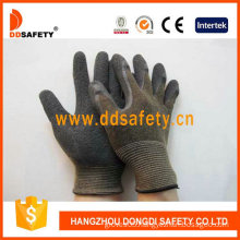 13G Nylon Knitted Latex Palm Coated Safety Gloves (DNL317)