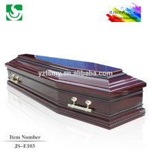 Exported high quality professional antique wooden coffin