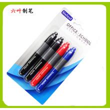 4pk permanente marcador caneta SL-203, conjunto de papelaria para Super mercado