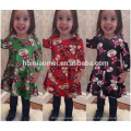 New Design Kids Fancy Dress Christmas Party Dresses In China Baby Girl Dress In Red Color