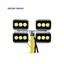 Установленный на грузовике телескопический светодиодный уличный осветительный генератор в корпусе мачты