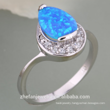 fire opal rings 925 sterling sliver plated jewelry