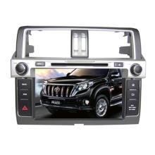Ajuste de 2DIN coches reproductor de DVD para Toyota Prado 2014 con Radio Bluetooth TV estéreo sistema de navegación GPS