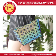 venda quente saco feminino reflexiva da forma do arco-íris