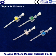 Medizinische Einweg-IV-Kanüle (Flügel-Typ) mit Injektions-Port