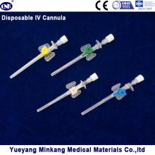 Медицинская одноразовая канюля IV (типа крыла) с портом инъекции