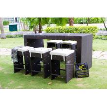 Poly Rattan Bar Set Für Outdoor Garten Patio Verwenden Wicker Möbel
