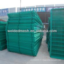 Barrière de clôture galvanisée recouverte de PVC de bonne qualité / clôture 3 D (certificat SGS et ISO9001)