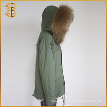 Mulheres Inverno Multi Color Real Raccoon Jackets Coat Warm Fox Fur Parka