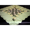 Green Color Embroidery Table Cloth New Fabric Fh237