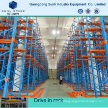 Multilayer Storage Pallet Drive in Rack