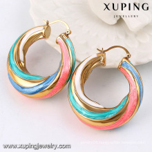 Fashion Hot-Selling 18k Gold-Plated African Style Colorful Imitation Jewelry Earring Hoop -91790