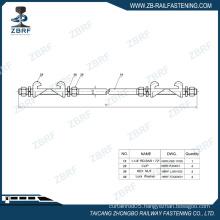 "Double end gauge rod with 1-1/4"" diameter"