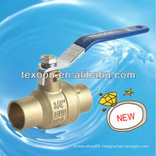 Solder brass fully welded ball valves with lead free (sweat*sweat)