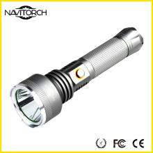 Linterna recargable de aluminio ultra brillante de 810 lúmenes de 500m de largo alcance (NK-2666)