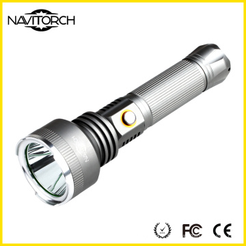 Lampe de poche rechargeable en aluminium ultra lumineuse de 810 lumens de la gamme 500m (NK-2666)