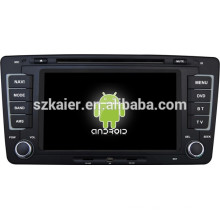 Android 4.4 Mirror-link TPMS DVR 1080P dual core car central multimedia for Skoda Octavia with GPS/Bluetooth/TV/3G