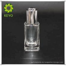 15ml weiß matt Glas Tropfflasche Silber weiß Gummi Tropfflasche Siebdruck für kosmetische ätherisches Öl