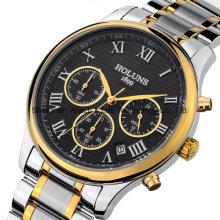 Reloj de pulsera de acero inoxidable automático de acero inoxidable