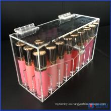 Maquillaje Almacenamiento Belleza Contenedor 24 Espacio Caja hecha a mano con tapa