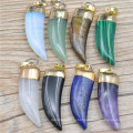 Агат Кулон Дракон Спайк Гальваника камень ювелирные аксессуары новых природных ожерелье кулон
