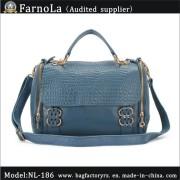 Leather Hand Bag/Shoulder Bag/Promotional Leisure Bag (NL-186)