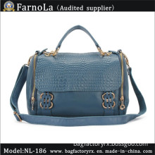 Leather Hand Bag/Shoulder Bag/Promotional Leisure Bag (NL-186)